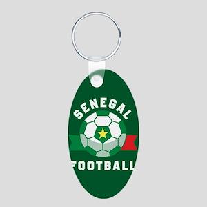 Senegal Football Aluminum Oval Keychain