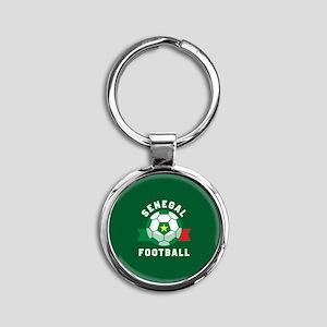 Senegal Football Round Keychain
