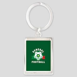 Senegal Football Portrait Keychain