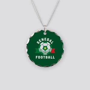 Senegal Football Necklace Circle Charm