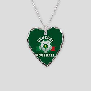 Senegal Football Necklace Heart Charm