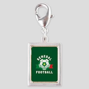 Senegal Football Silver Portrait Charm