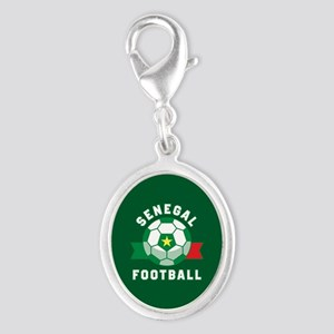 Senegal Football Silver Oval Charm