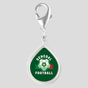 Senegal Football Silver Teardrop Charm