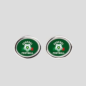 Senegal Football Oval Cufflinks