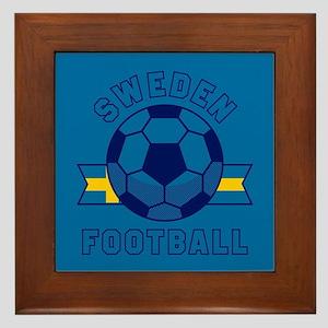 Sweden Football Framed Tile