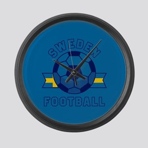 Sweden Football Large Wall Clock