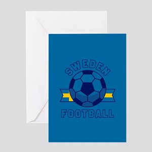 Sweden Football Greeting Card