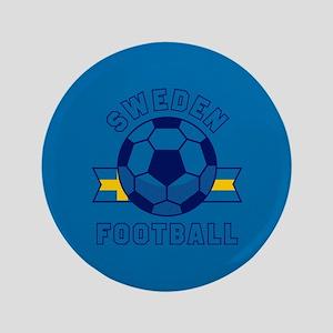 """Sweden Football 3.5"""" Button"""