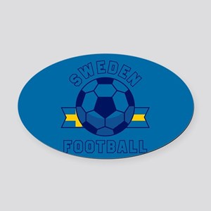 Sweden Football Oval Car Magnet