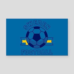 Sweden Football Rectangle Car Magnet