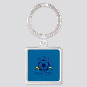 Sweden Football Square Keychain