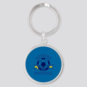 Sweden Football Round Keychain
