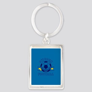 Sweden Football Portrait Keychain