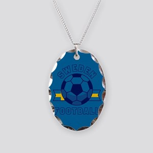 Sweden Football Necklace Oval Charm