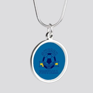Sweden Football Silver Round Necklace