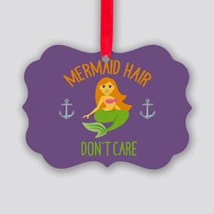 Emojione Mermaid Hair Don't Care Picture Ornament