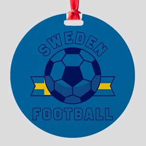 Sweden Football Round Ornament