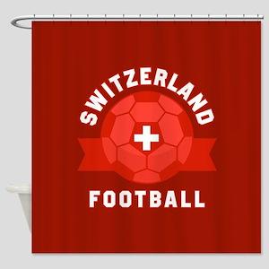 Switzerland Football Shower Curtain