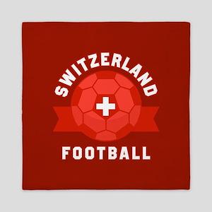 Switzerland Football Queen Duvet