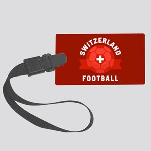 Switzerland Football Large Luggage Tag