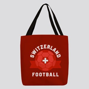 Switzerland Football Polyester Tote Bag