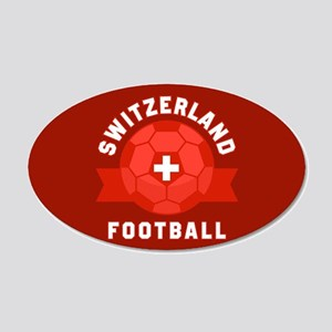 Switzerland Football 20x12 Oval Wall Decal