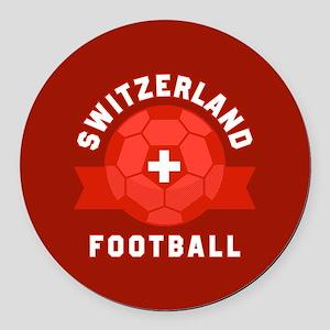 Switzerland Football Round Car Magnet