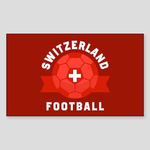 Switzerland Football Sticker (Rectangle)