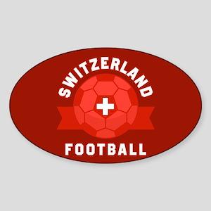 Switzerland Football Sticker (Oval)