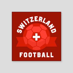 "Switzerland Football Square Sticker 3"" x 3"""