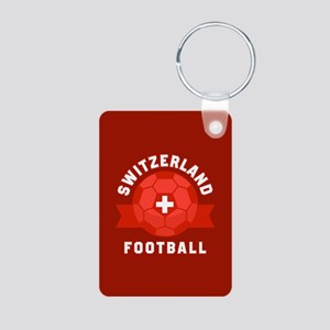 Switzerland Football Aluminum Photo Keychain
