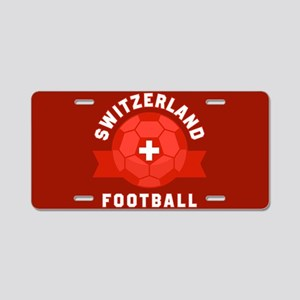 Switzerland Football Aluminum License Plate