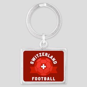 Switzerland Football Landscape Keychain