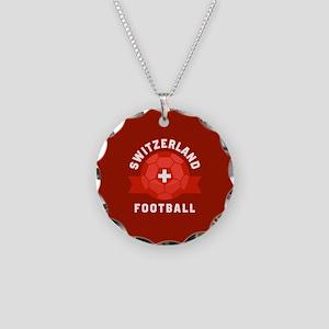Switzerland Football Necklace Circle Charm