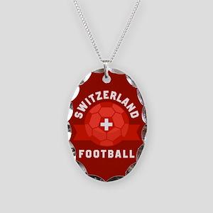 Switzerland Football Necklace Oval Charm