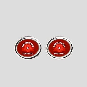 Switzerland Football Oval Cufflinks