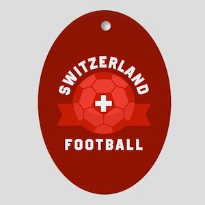 Switzerland Football Oval Ornament