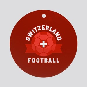 Switzerland Football Round Ornament