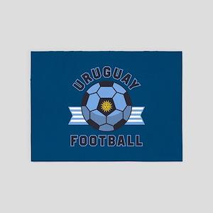 Uruguay Football 5'x7'Area Rug
