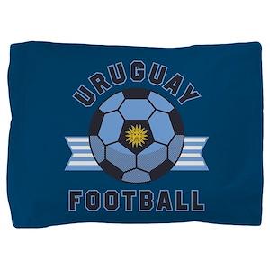 Uruguay Football Pillow Sham