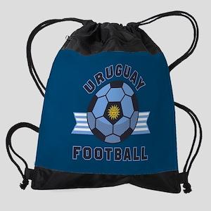 Uruguay Football Drawstring Bag