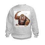 Orangutan Ape (Front) Kids Sweatshirt