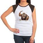 Orangutan Ape (Front) Women's Cap Sleeve T-Shirt