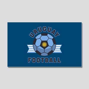 Uruguay Football Car Magnet 20 x 12