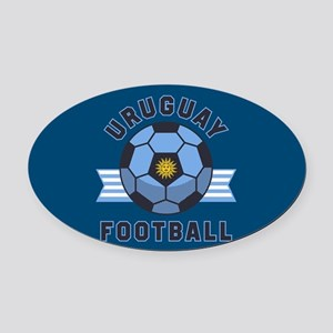 Uruguay Football Oval Car Magnet