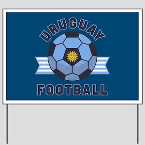 Uruguay Football Yard Sign