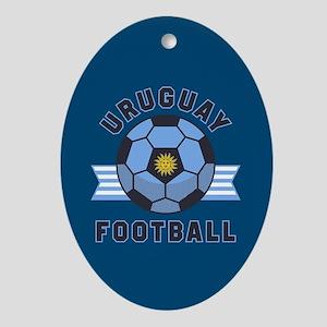 Uruguay Football Oval Ornament