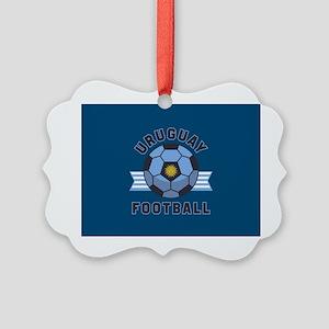 Uruguay Football Picture Ornament
