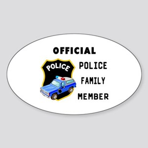 Police Family Member Sticker (Oval)